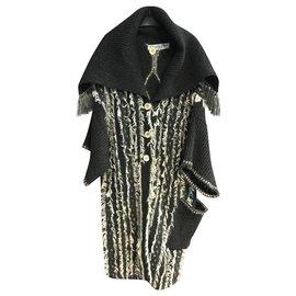 Dior-Manteaux, Vêtements d'extérieur-Gris