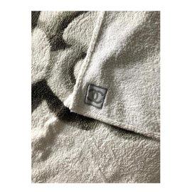 Chanel-Chanel bath towel-Eggshell