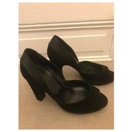 Hermès-Open toe pumps-Black