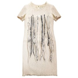 Chanel-''Arctic'' fringed dress-Cream