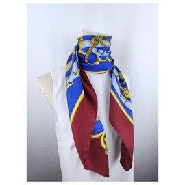 Hermès-Cavalcadour blue red gold-Multiple colors