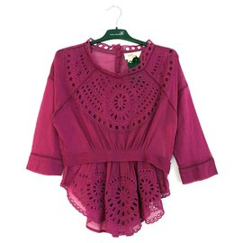 Isabel Marant Etoile-blouse brodée Ada-Violet