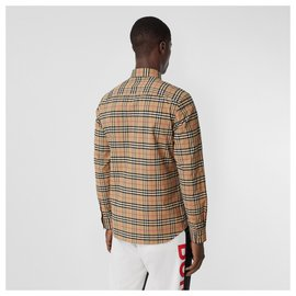 Burberry-burberry Small Scale Check Stretch Cotton Shirt-Multiple colors