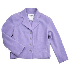 Chanel-jewel buttons jacket-Lavender