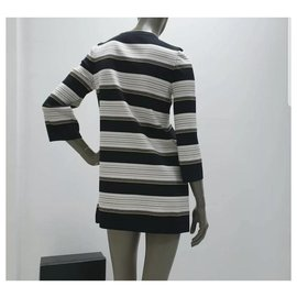 Chanel-Chanel Striped Silk Tunic-Dress Sz 38-Multiple colors