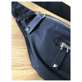 Valentino Garavani-Banana bag-Black