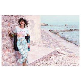 Chanel-5Jupe Cuba emblématique K $-Multicolore