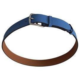 Hermès-Hermès Etrévière belt (75)-Blue