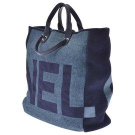 Chanel-Chanel tote bag-Blue