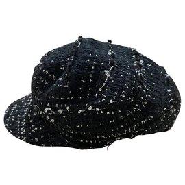 Chanel-Hats-Black,White