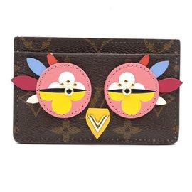 Louis Vuitton-Louis Vuitton Monogram Owl Love Bird Card Case-Multiple colors