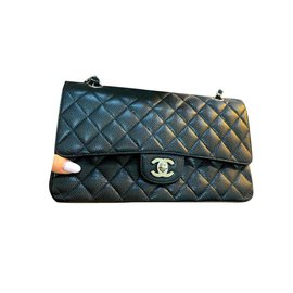 Chanel-Chanel Medium Timeless classic lined flap bag-Black