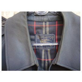 Burberry-men's Burberry vintage t trench coat 52-Navy blue