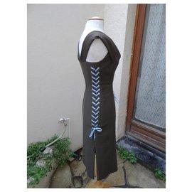 Dior-Robes-Marron,Bleu clair