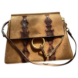 Céline-Céline Amazing python bag-Brown