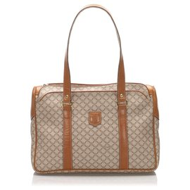 Céline-Celine Brown Macadam Handbag-Brown,Light brown