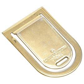 Louis Vuitton-Louis Vuitton Gold Porto Address Money clip-Golden