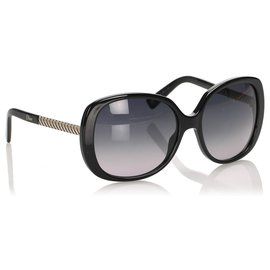 Dior-Lunettes de soleil rondes teintées noires Dior-Noir