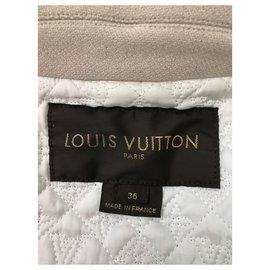 Louis Vuitton-Manteau court Louis Vuitton-Blanc cassé