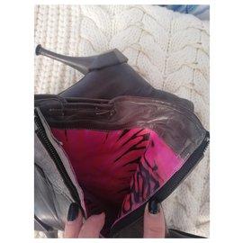 Céline-Ankle Boots-Khaki,Dark grey