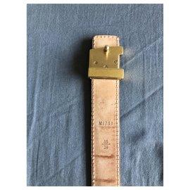 Louis Vuitton-Initials Belt-Brown