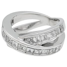 Chopard-Chopard ring white gold, square diamonds.-Other
