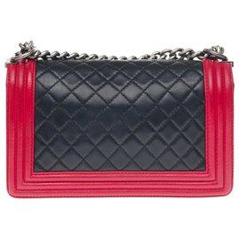 Chanel-Handbags-Black,Red