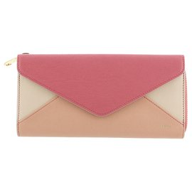 Chloé-Chloe Pink Envelope Leather Long Wallet-Pink,Multiple colors