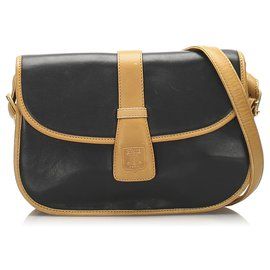 Céline-Celine Blue Leather Crossbody Bag-Brown,Blue,Navy blue