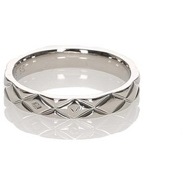 Chanel-Chanel Silver Matelasse Ring-Silvery