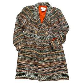 Chanel-8,2Manteau en tweed K $-Multicolore