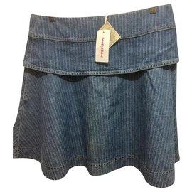 See by Chloé-Jupe patineuse en jean-Bleu