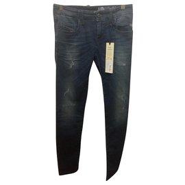 Diesel-Diesel Grupee S Ne Sweat Jeans W25 l30-Bleu