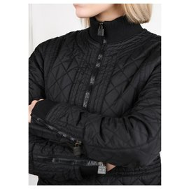 Chanel-black quilted jacket-Black