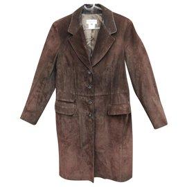 Georges Rech-manteau de cuir Georges Rech t 40-Marron foncé
