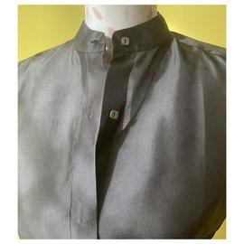 Max Mara-Chemise en soie noire-Noir