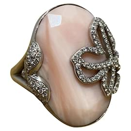 Victoria Casal-Rings-Silvery,Pink