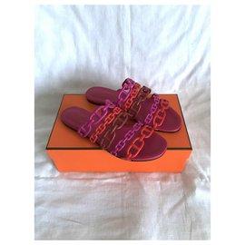 Hermès-Hermès Thalassa sandals-Pink