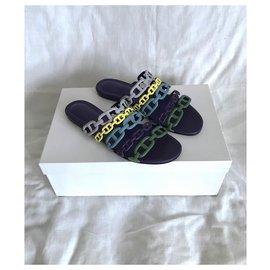 Hermès-Hermès sandals Thalassa model-Blue