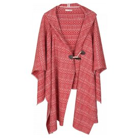 Bash-Manteaux, Vêtements d'extérieur-Rouge,Écru