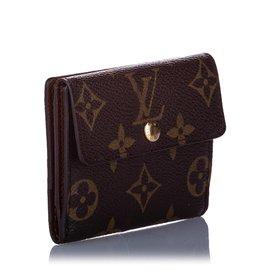 Louis Vuitton-Louis Vuitton Brown Monogram Portefeuille Elise Wallet-Brown