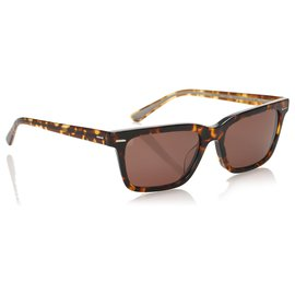 Oliver Peoples-Oliver Peoples Brown Oliver Sun Square Tinted Sunglasses-Marron