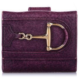 Gucci-Gucci Purple Hasler Leather Small Wallet-Purple