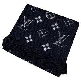 Louis Vuitton-Sciarpa Louis Vuitton Logomania Shine nera-Noir