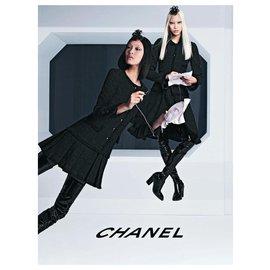 Chanel-10Manteau très rare K $-Noir
