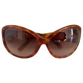 Salvatore Ferragamo-Super glam rétro suglasses-Light brown