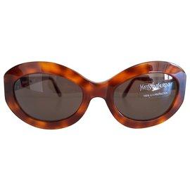 Yves Saint Laurent-Vintage YSL rétro sunglasses-Brown