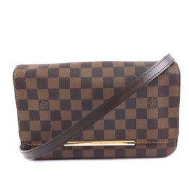 Louis Vuitton-Louis Vuitton Hoxton PM Damier Ebene Canvas-Brown
