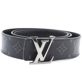 Louis Vuitton-Taille de ceinture réversible initiales Louis Vuitton Monogram Eclipse 100/40 ceinture-Noir