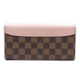 Louis Vuitton-Louis Vuitton Damier Ebene Normandy Long Wallet-Brown